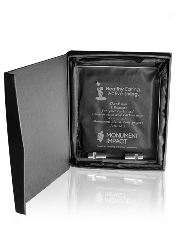 Small Chroma Glass Awards with Double Stand | DMAW48