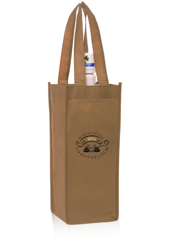 Non-Woven Vineyard One Bottle Wine Bags | TOT115