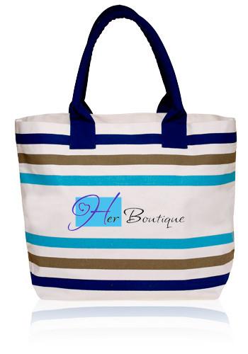 Stripe Seaside Tote Bags