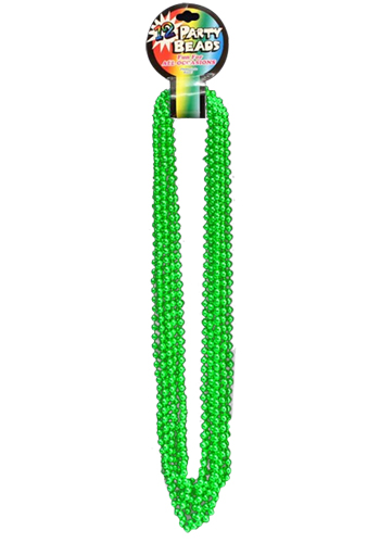 Personalized Metallic Green Beads Necklaces