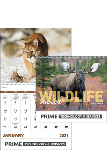 Promotional Wildlife Portraits - Spiral Calendars