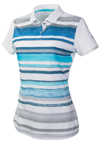 Promotional Women's Puma Washed Stripe Polo Pc