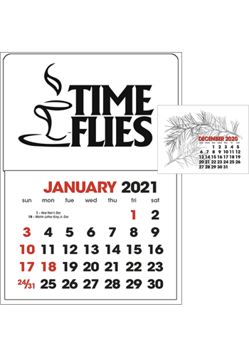 #X11643 Personalized Stick Up Grid 13-Month Calendars