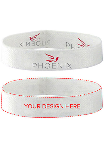.50 in. Dye-Sublimated Stretchy Elastic Polyester Wristbands | SUAWBSE12