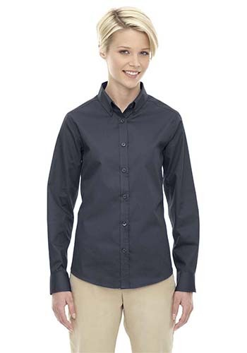#78193 Ash City - Core 365 Ladies' Imprinted Operate Long-Sleeve Twill Shirts