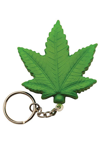 Cannabis Leaf Stress Ball Keyrings | AL26606