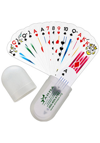 Oval Deck Of Cards In Plastic Holders | MGPC100