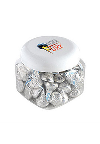 Promotional Hershey kisses in Large Snack Canisters