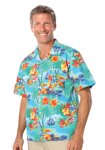 #BGEN3103 Personalized Adult Tropic Print Camp Shirts