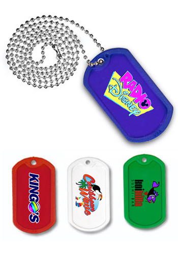 Plastic Dog Tags with 23 1/2 inch Ball Chain | AK8028410