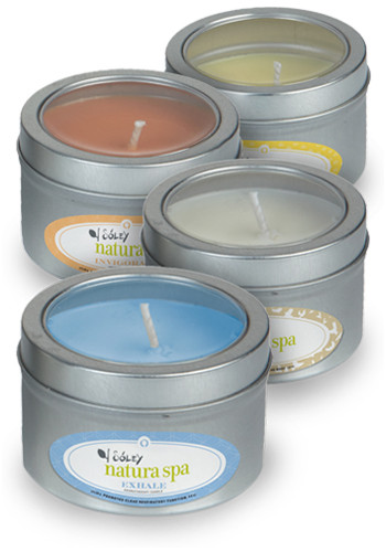 Customized Aromatherapy Candles in Small Window Tin