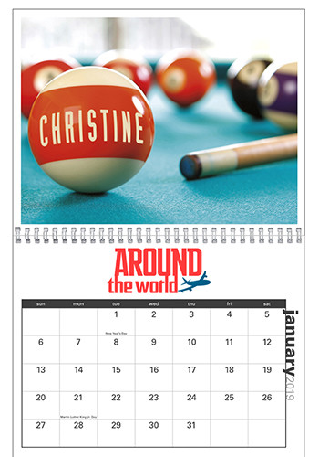 #X11650 Customized Your Name Here Appointment Calendar Triumph Calendars