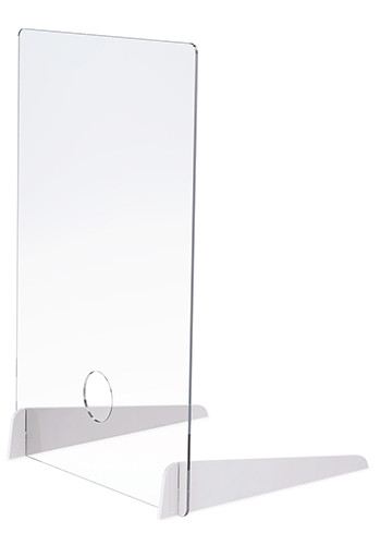 0.25 In Thick Distancing Barrier With Acrylic Legs| X20345