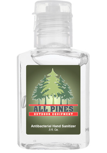 0.5 Oz. Hand Sanitizers In Clear Bottles  X20313