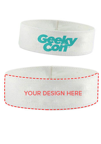 Custom 0.75 inch Dye-Sublimated Stretchy Elastic Polyester Wristbands