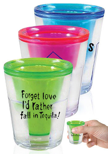 Double Wall Plastic Shot Glasses