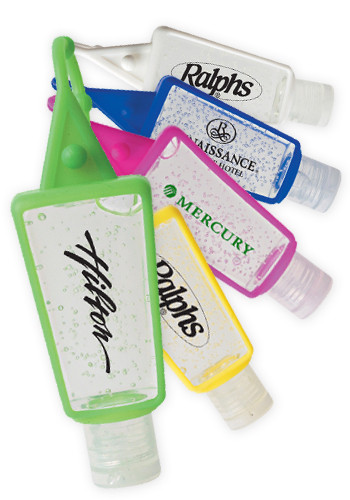 1 oz. Silicone Holder Hand Sanitizers   X10184