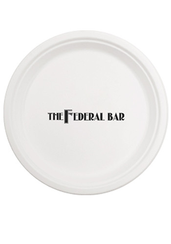 Personalized 10 Inch Round Compostable Paper Plates