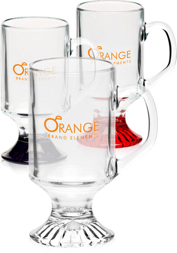 Personalized 10 oz. ARC Footed Sports Glass Mugs