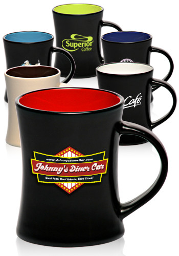 Bulk 9 Oz Aztec Diner Flare Two Tone Coffee Mugs