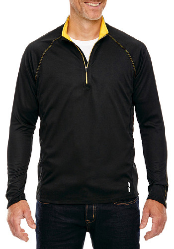 Ash City Men's Half-Zip Performance Long Sleeve Tops | 88187