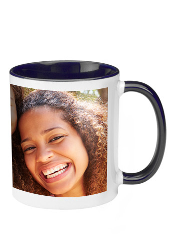 Two Tone Ceramic Photo Mugs