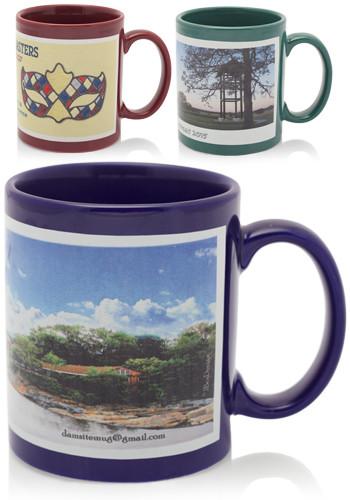 Promotional 11 Oz Full Color Wrap Around Ceramic Mugs