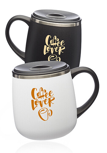 11 oz. Stainless Steel Coffee Mugs with Lid | TM375