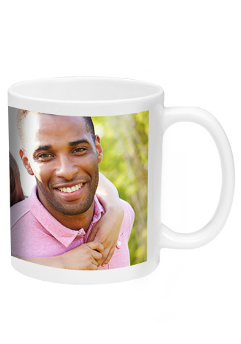 White Ceramic Photo Mugs