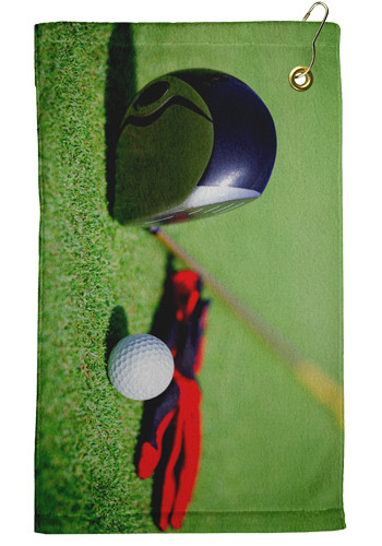 Personalized 11 x 18 Microfiber Velour Golf Towels