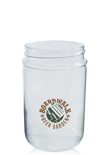 12/16 oz. Round Blow Molded Mason Jars | HWMJBR1216
