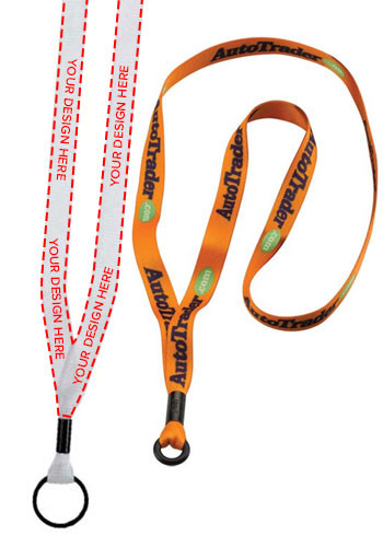 12 Dye Sublimated Rubber O-ring Lanyards | SULS12M