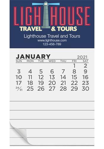12 Month Pad Calendar Magnets   MGCP02