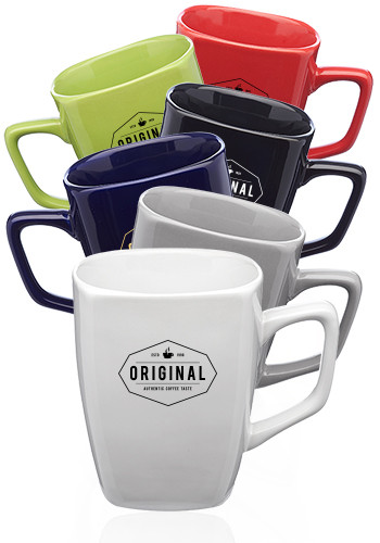 12 oz. Ares Glossy Ceramic Latte Mugs | 5014
