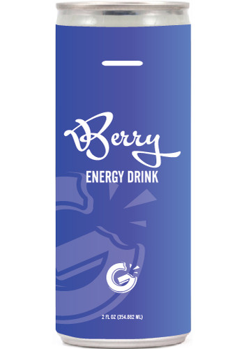 Personalized 12 oz Energy Drinks