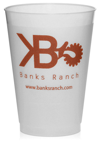 Personalized 12 oz. Frosted Plastic Party Cups