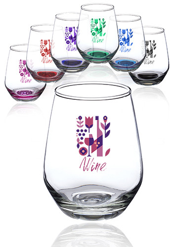 12 oz. Silicia Stemless Wine Glasses | 0760AL