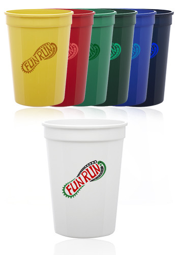 Custom 12 oz.  Plastic Stadium Cups