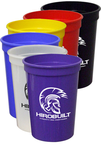 12 oz. Smooth Colored Stadium Cups | TSTSS12