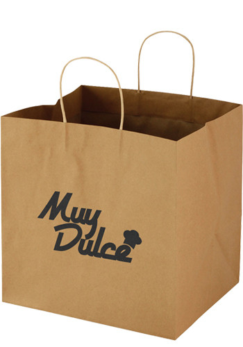 12 x 12 Wide Gusset Brown Takeout Bags | PS1WGU1212NAT