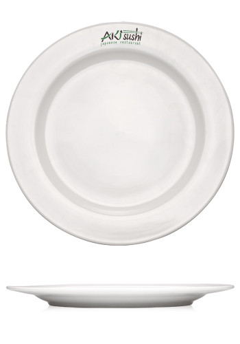 12.25-in. Vitrified Porcelain Rimmed Plates