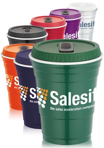 16 oz. Game Day Cups with Lids | LE162391