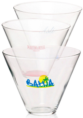 Promotional 13.5 oz. Libbey Personal Stemless Martini Glasses
