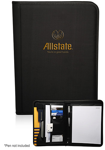 13.5 x 10 in. Promotional Zippered Portfolio