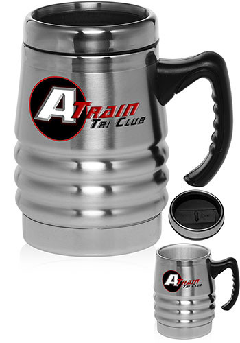 #TM1037 unique stainless steel Travel Mug with handle