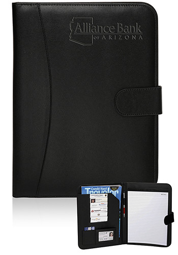 Promotional Prestige Black Leather Portfolios