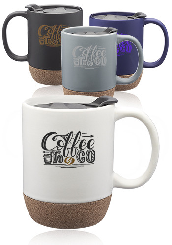 Customized 13 oz. Barista Ceramic Mugs with Cork Bottom