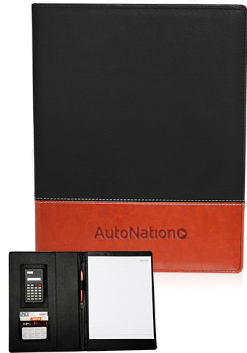 Personalized Two-Tone Leatherette Padfolios