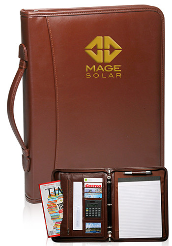 Brown Leather Binder Portfolios | PF46