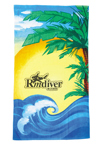 Customized Beach Scene Towels